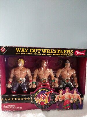 3 PACK WAY OUT WRESTLERS WOT WRESTLING CHAMPIONS Bootleg Toy Figure RARE