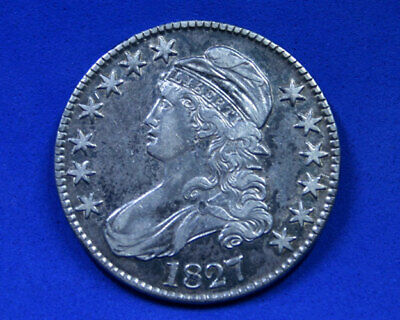1827-P Silver Capped Bust Half Dollar Square Base