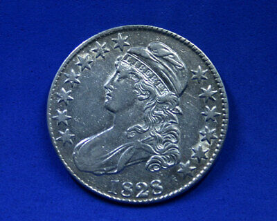 1828 Capped Bust Half Dollar 50c