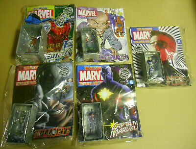 Classic Marvel Figurine Collection Mixed Lot - 5 Figurines (Eaglemoss)