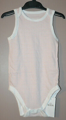 Girls M&S Special Needs Pure Cotton Sleeveless Bodysuit Age 6 - 7 Yrs - Bnwt