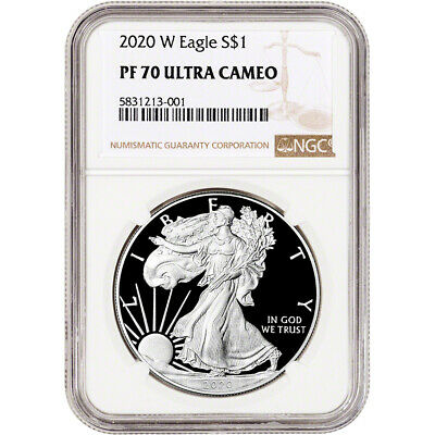 2020-W American Silver Eagle Proof - NGC PF70 UCAM