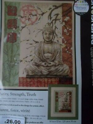 """Cross stitch Kit  """"  Purity, Strength,truth """" New by Dimensions"""