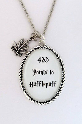 420 Points To Hufflepuff Harry Potter Hogwarts House Quote Pendant Necklace