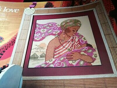 Cross Stitch Chart African Mother And Baby Mothers Love   Scene Chart Only
