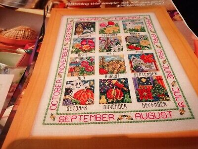 Cross Stitch Chart A Year In Stitches Sampler Chart & 2 Love Bug Card Charts