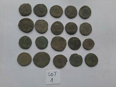 Beautiful Lot of 20 ancient Roman Bronze Coins for cleaning lot 1 weight 52 gr
