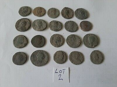 Beautiful Lot of 20 ancient Roman Bronze Coins for cleaning lot 2 weight 54.61gr