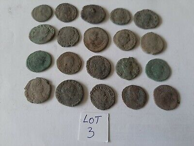 Beautiful Lot of 20 ancient Roman Bronze Coins for cleaning lot 3 weight 57.17gr