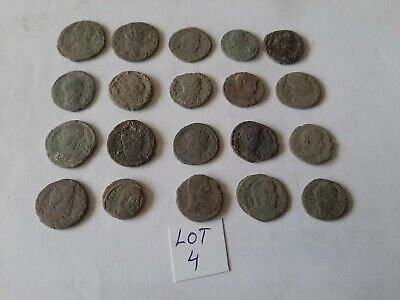 Beautiful Lot of 20 ancient Roman Bronze Coins for cleaning lot 4 weight 48.86gr