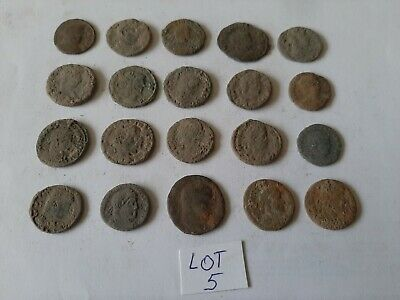 Beautiful Lot of 20 ancient Roman Bronze Coins for cleaning lot 5 weight 49.81gr