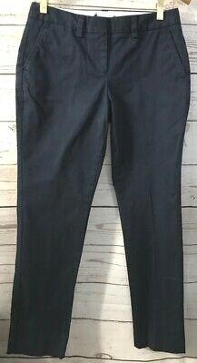 LANDS END Womens Navy Mid Rise Chino Stretch Uniform Pants Size 2 Petite