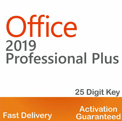 Microsoft Office 2019 Professional Plus Key Code Instant Delivery 32/64 Bit