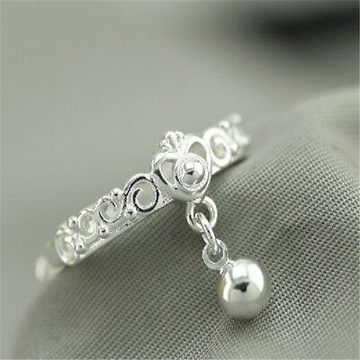 925 Solid Sterling Silver Plated Women/Men NEW Fashion Ring Gift SIZE OPEN H201