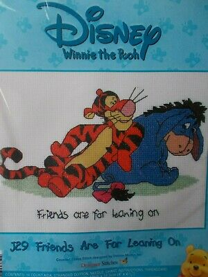"""Cross stitch Kit Disney """" Friends are for leaning on """" New by Designer Stitches"""