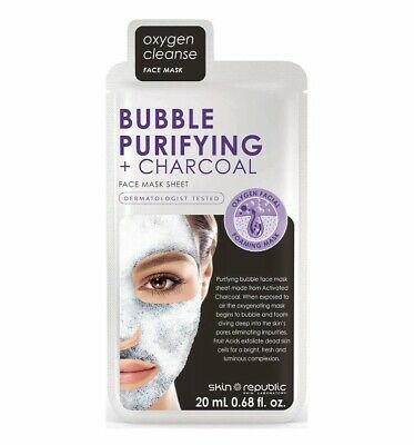 Skin Republic Bubble Charcoal Face Sheet Mask 25ml