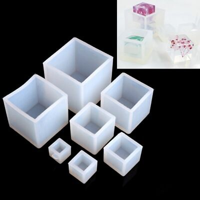 Craft Tool Resin Casting Silicone Mould Jewelry Making Cube Pendant Mold