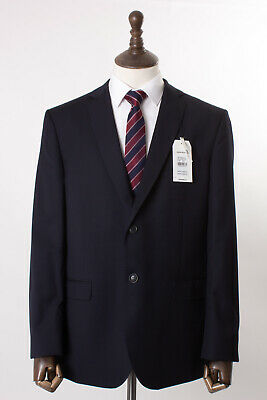 Men's Navy Blue Ben Sherman Suit Tailored Fit 44R W38 L32 $399 100% Wool