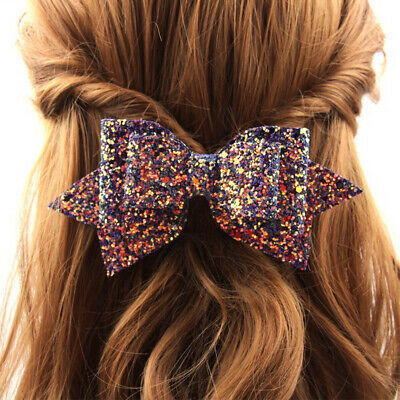 Girl Bowknot Princess Hairgrips Glitter Bow Hair Clip DIY Party NEW Hairpins HP