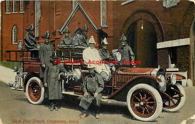 IA, Ottumwa, Iowa, Fire Truck, Firemen, 1919 PM, Sexichrome No 39626