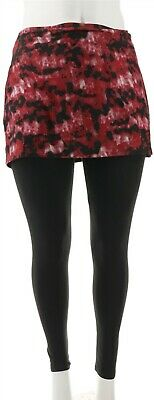 Legacy Brushed Jersey Skirted Legging Red XS NEW A342925