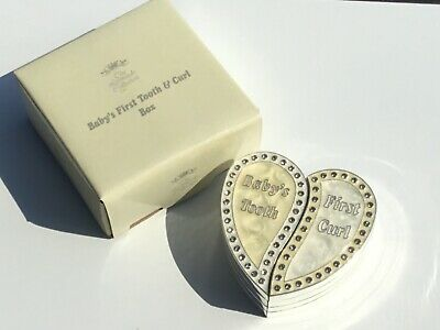 Ivory First Tooth & Curl Baby Heart Shaped Box Brand New and Boxed