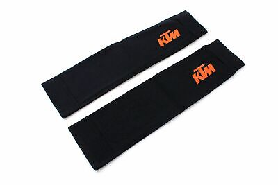 KTM Armwärmer Radssport Armsleeves Ärmling Kompression schwarz/orange