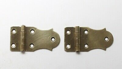 Pair of Brass Face Mount Cabinet Hinges