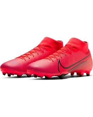 Football boots shoes Nike Cleats Mercurial Superfly 7 Academy FG-MG Red MEN