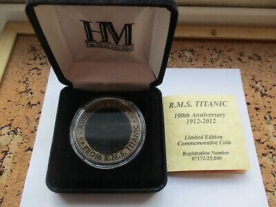 RMS TITANIC LIMITED EDITION 100th ANNIVERSARY SHIP COAL COIN WHITE STAR BOAT