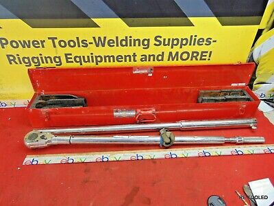 """LARGE 70"""" Wright Tool 8447 1"""" Drive Torque Wrench Ratchet 200 - 1,000 FT LBS. TR"""