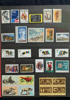 1975 US Mint Year Set - 28 Commemorative Stamps MNH Lot - STAMPS ONLY