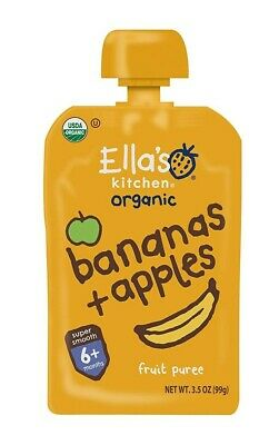 Ella's Kitchen Organic Stage 2, Bananas + Apples, 3.5 Ounce (Pack of 12)