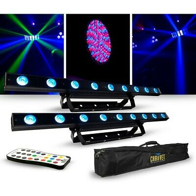 CHAUVET DJ Lighting Package with Two COLORband LED Effect Lights, IRC-6