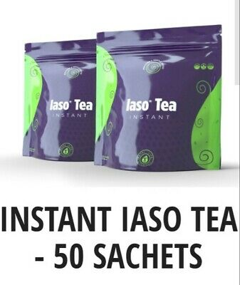 Iaso Tea INSTANT- 50 single serve packets (NEW PACKAGING) TLC Diet Weight Loss