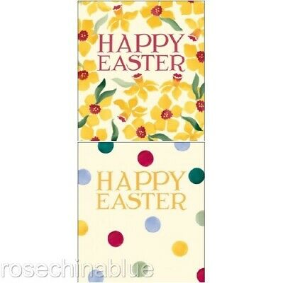 Emma Bridgewater set of 5 Easter Cards Daffodils or polka dot