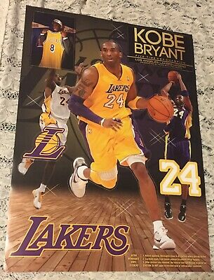 Los Angeles Lakers Kobe Bryant #24 Five Time Nba Champion Sticker Poster