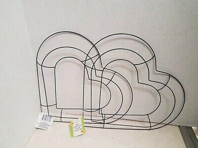"NEW TWO 13"" Heart Shaped Wire Wreath Frame Forms"