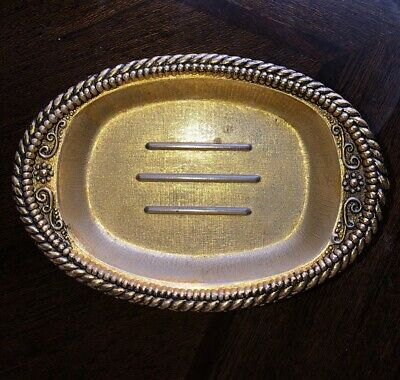 Deco Room American Tack & HDWE CO 1968 Vtg Footed Soap Dish Hardware Dura-Metal