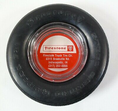 Firestone Truck Tire Indianapolis IN Steel Belted Radial 721 Advertising Ashtray
