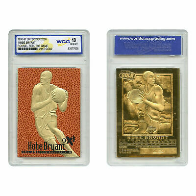 Amazing KOBE BRYANT 1996-97  Rookie FEEL THE GAME Gold Card GEM MINT 10 Lakers