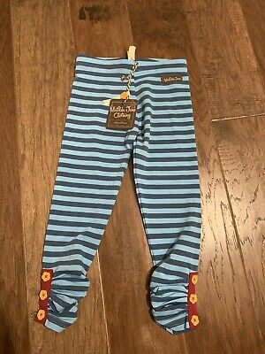 Matilda Jane SIGHTSEEING LEGGINGS 4 Blue Striped Girls Moments With You NWT