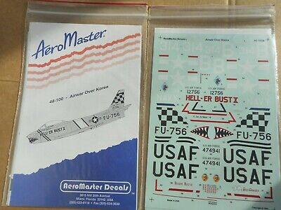 DECALS  AIRWAR OVER KOREA AEROMASTER 48-100 9537 1//48-2 FOGLI X5 AEREI