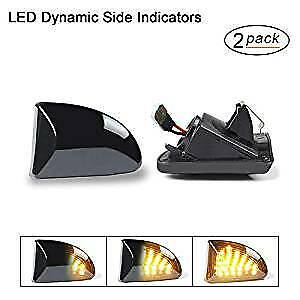 LED Dynamische Seitenblinker Blinker SMART FORTWO A451 C451 Cabrio & Coupe BLACK