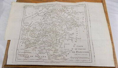 1787 Antique Map/DETAILED TOPOGRAPHICAL MAP OF FRANCONIA, GERMANY, Plus Related