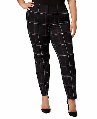 Alfani Womens Pants Black Size 22W Plus Skinny Comfort-Waist Stretch $84- 173