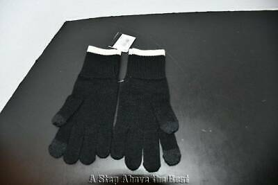 Coach Colorblock Knit Tech Gloves Black ONE SIZE #F76490 NWT