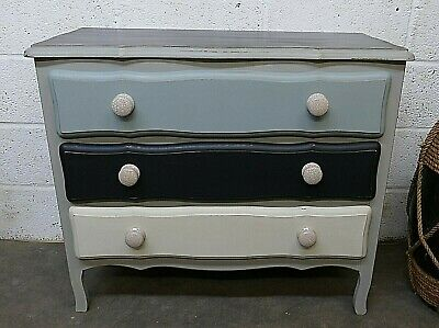 Vintage French Painted Shabby Chic Chest Of Drawers