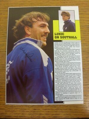 1981-1998 Football Autograph: Everton - Neville Southall [Hand Signed, Colour, M