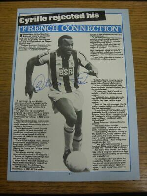 1977-1984 Football Autograph: West Bromwich Albion - Cyrille Regis [Hand Signed,
